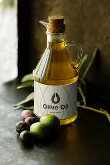 Mockup di olio d'oliva