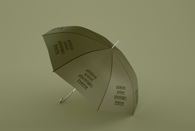 Mockup di ombrelli