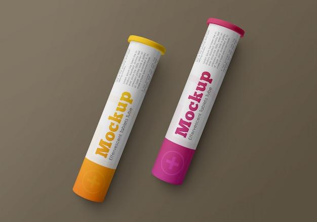 Mockup di pacchetti di pillole effervescenti