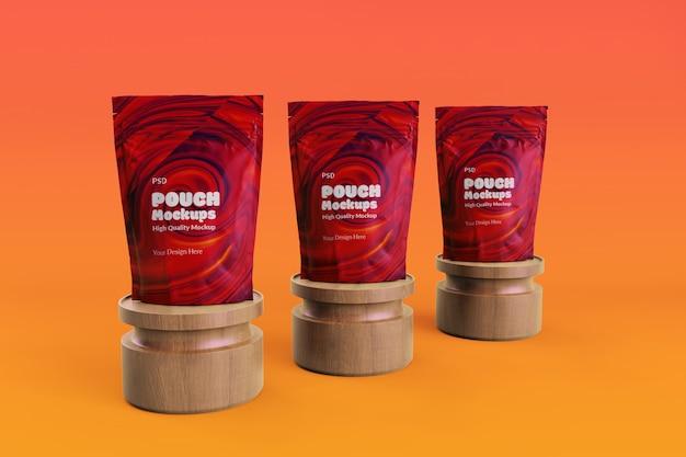 Mockup di packaging modificabile