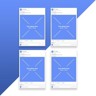 Mockup di pagine di smartphone di rete sociale