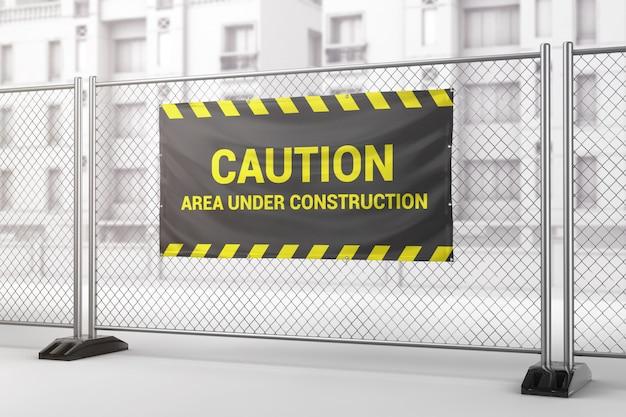 Mockup di pannelli di recinzione mesh banner