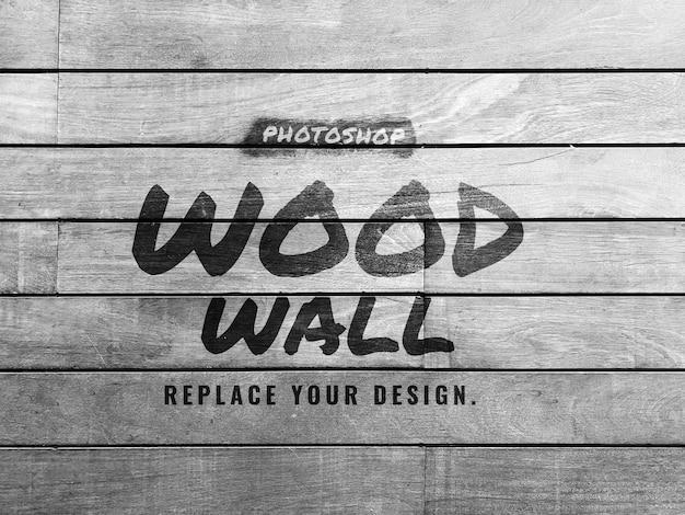 Mockup di parete in legno grigio