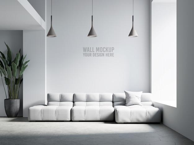 Mockup di parete interna del salone