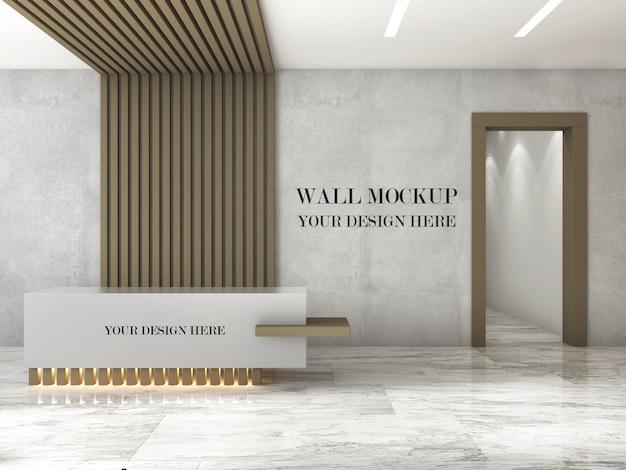 Mockup di parete reception ufficio design moderno