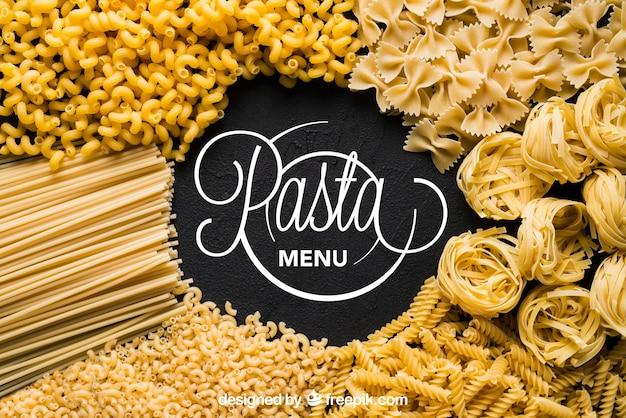Mockup di pasta