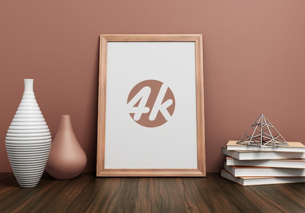 Mockup di photo frame interno