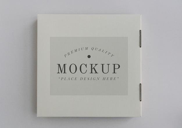 Mockup di pizza box consegna chiusa