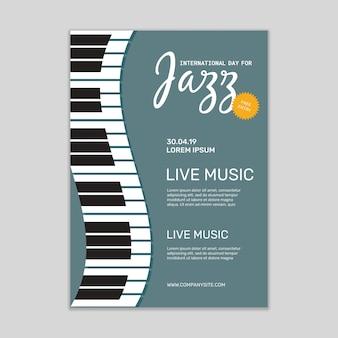 Mockup di poster di musica jazz