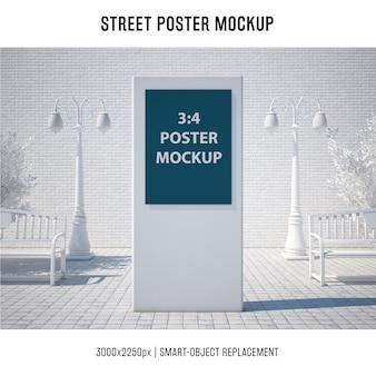 Mockup di poster di strada