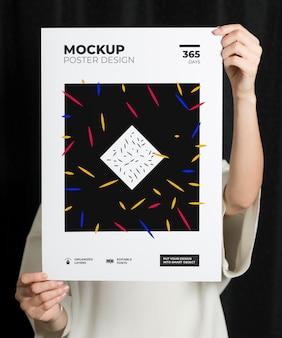 Mockup di poster moderno