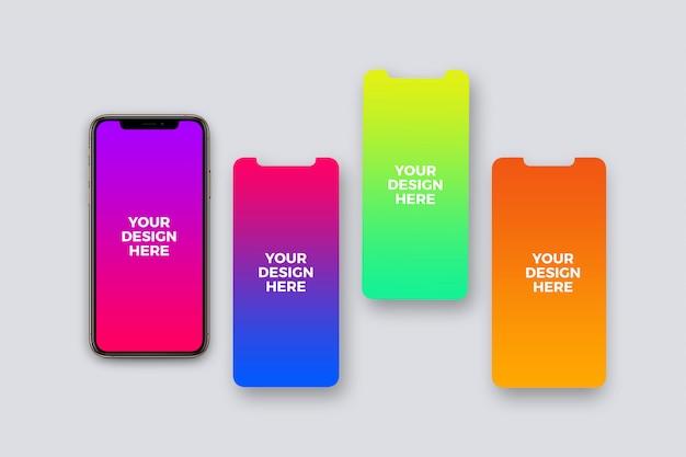 Mockup di presentazione delle app per smartphone