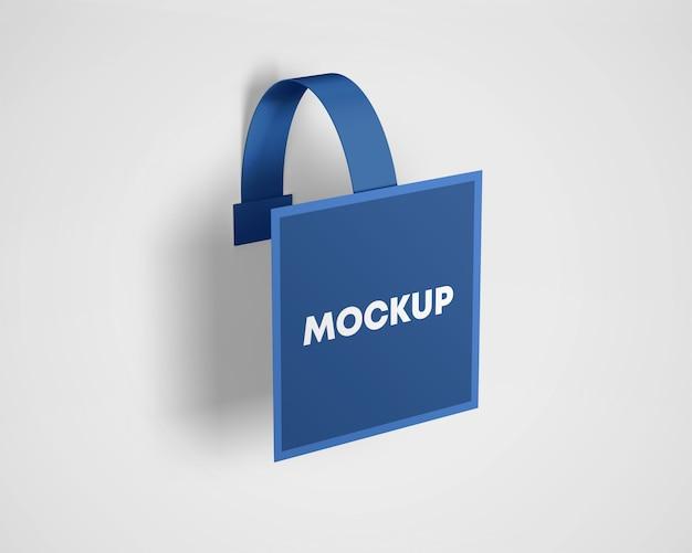 Mockup di pubblicità in plastica wobbler