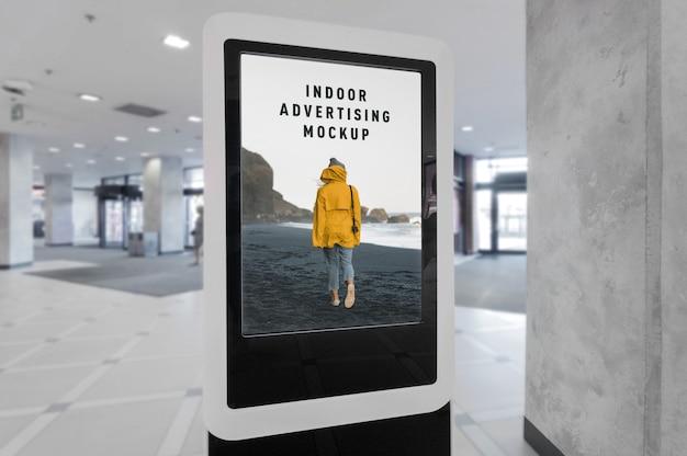 Mockup di pubblicità interna all'interno del centro commerciale