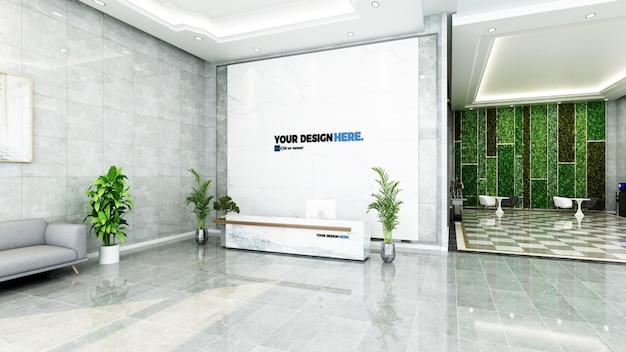 Mockup di reception reception aziendale