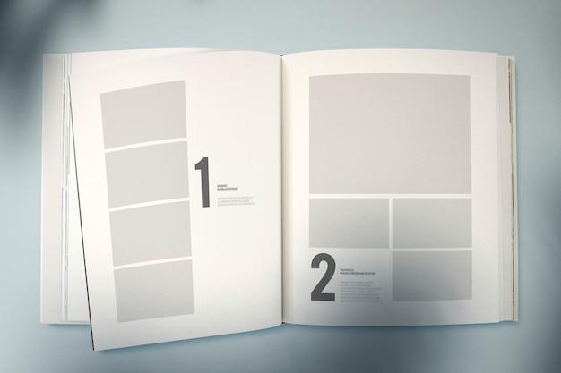 Mockup di rivista con uno spazio vuoto