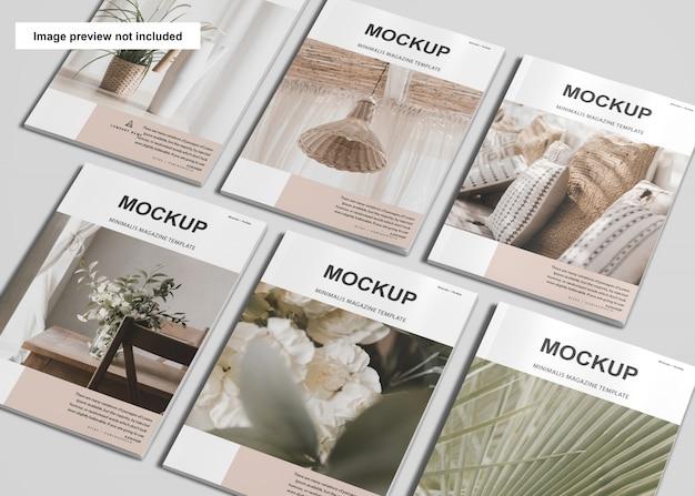 Mockup di riviste copertina a4