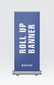 Mockup di roll up banner stand