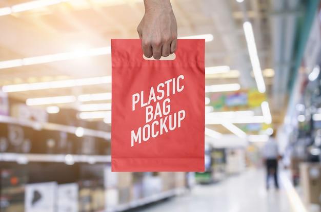 Mockup di sacchetti di plastica