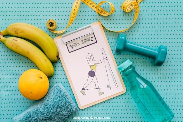 Mockup di salute con appunti