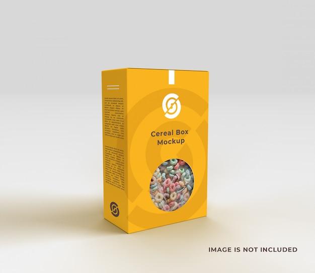 Mockup di scatola di cereali