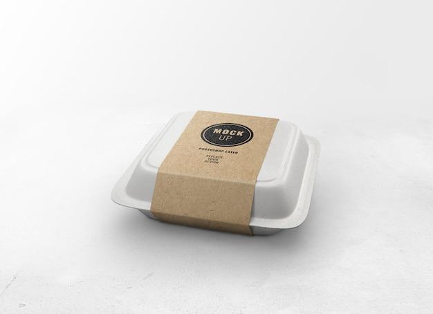 Mockup di scatola di cibo di consegna