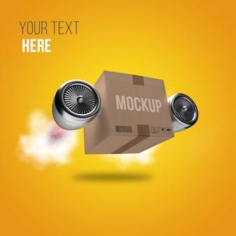 Mockup di scatola di consegna 3d