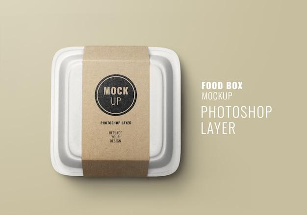 Mockup di scatola di consegna fast food
