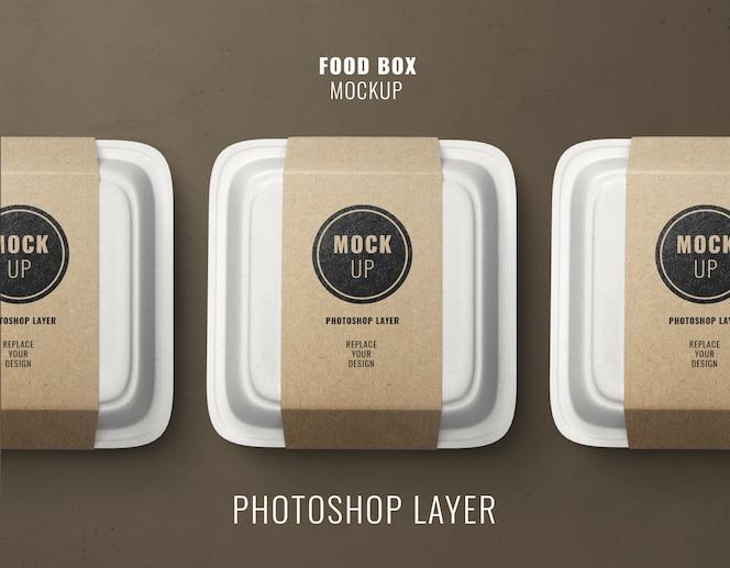 Mockup di scatole di consegna fast food