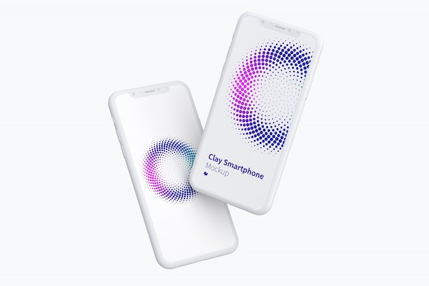 Mockup di schermi per smartphone