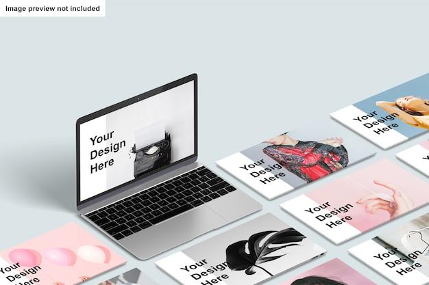 Mockup di schermo del computer portatile