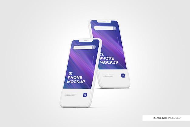 Mockup di schermo del telefono cellulare