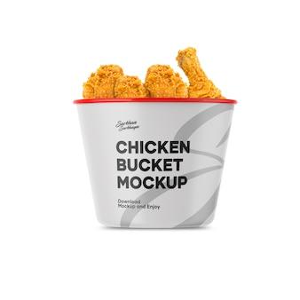 Mockup di secchio di pollo