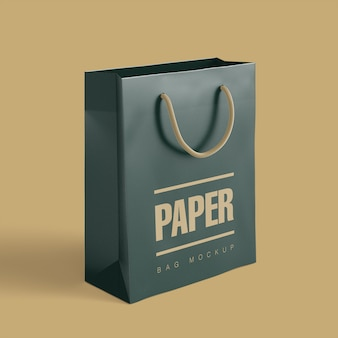 Mockup di shopping bag di carta