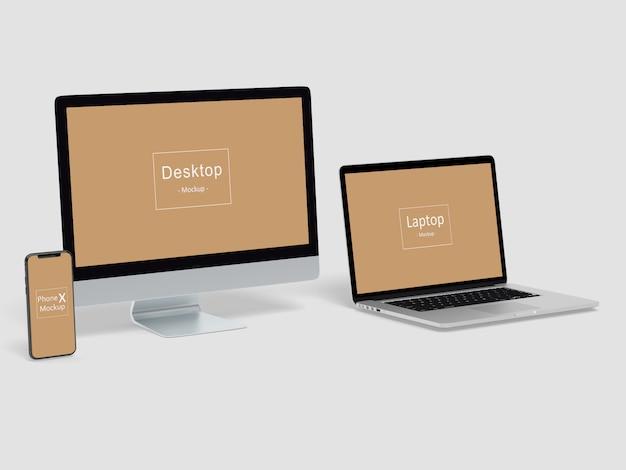 Mockup di siti web responsive multi-dispositivi