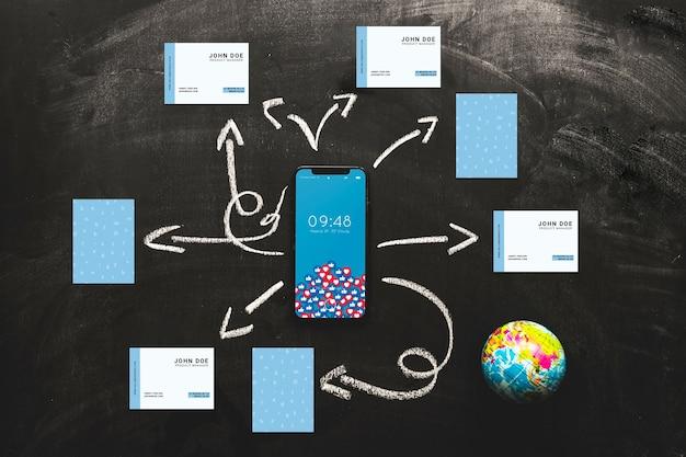 Mockup di smartphone con il concetto di internet