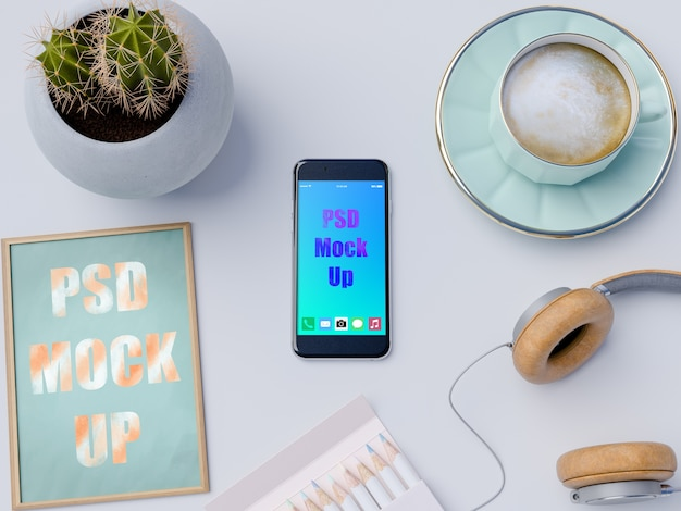 Mockup di smartphone decorativi