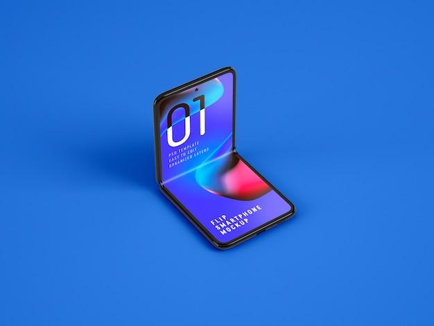 Mockup di smartphone pieghevole