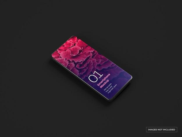 Mockup di smartphone scuro