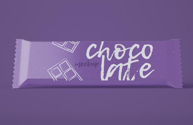 Mockup di snack al cioccolato
