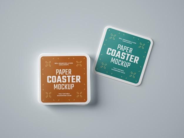 Mockup di sottobicchieri di carta