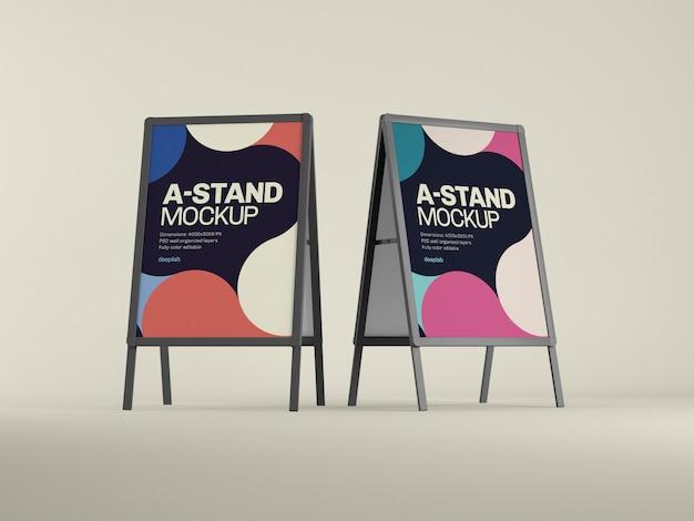 Mockup di stand pubblicitari esterni con psd a colori