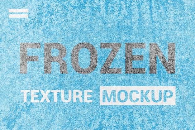 Mockup di struttura congelata ghiaccio