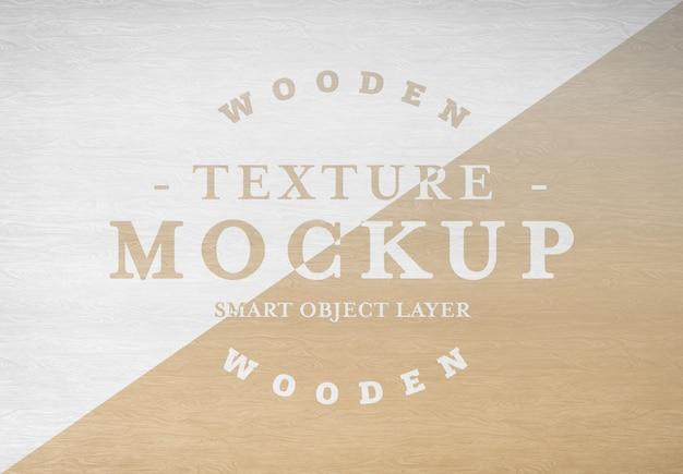 Mockup di struttura di legno