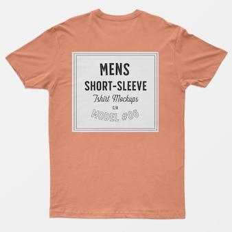 Mockup di t-shirt da uomo a manica corta