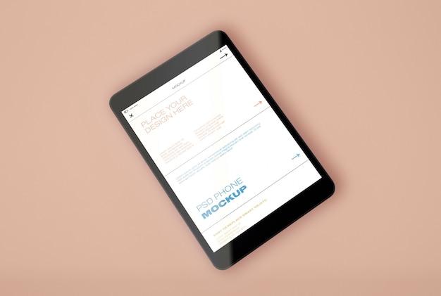 Mockup di tablet pc