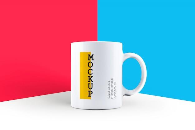 Mockup di tazza di caffè bianco
