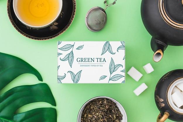Mockup di tè creativo