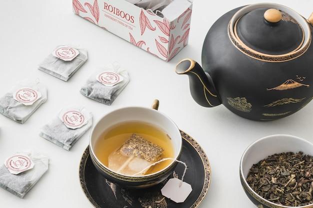 Mockup di tè isometrico