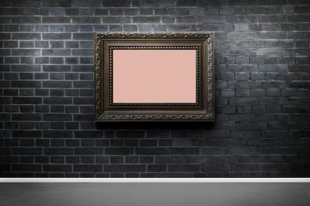 Mockup di telaio contro un muro di mattoni